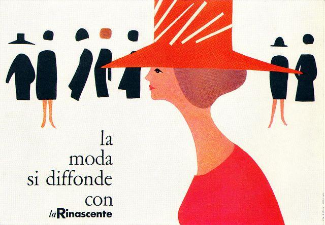 Lora Lamm Illustration 5  Poster for La Rinascente, an Italian department store…