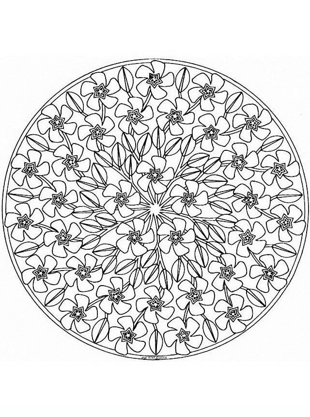 mandala_fiori10 disegni da colorare per adulti e ragazzi
