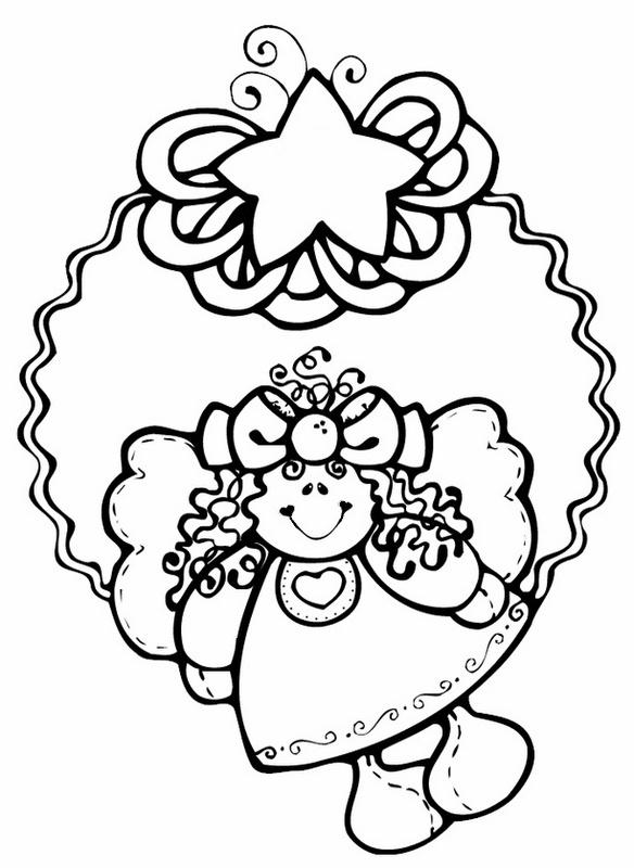 angel coloring - anjo colorir