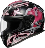 SHOEI Women's Motorcycle Helmet  (Corazon, Used Street Bike Helmets, Ladies, Pink)