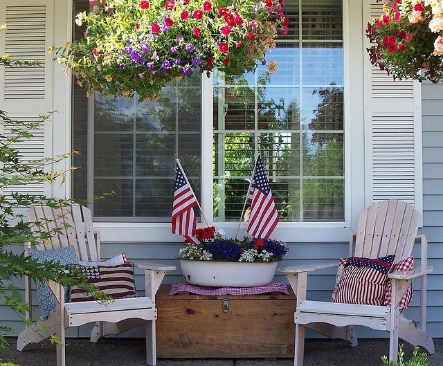 Patriotic Porch 4th of July Porch!
