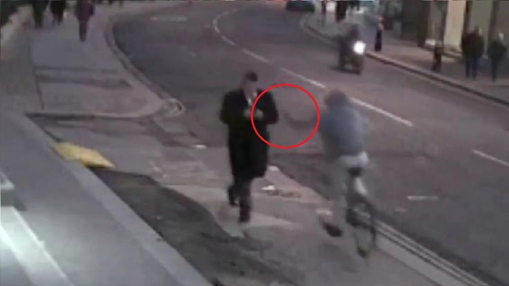 Phone Snatched from his hand by a man speeding past on his bicycle.