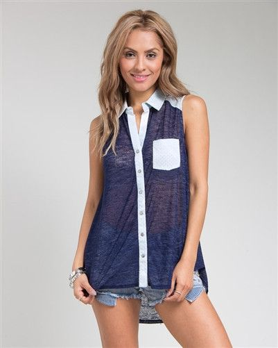 The Blues Button Down Tunic.