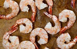 A tip from Ina Garten: roast shrimp in the oven to slightly caramelize them and concentrate their flavor. Makes the shrimp taste sweeter and more intense. Toss the shrimp with olive oil, salt and pepper (I always add some garlic powder, too), spread them out in a single layer on a sheet pan and roast at 400 for about 6-8 minutes.