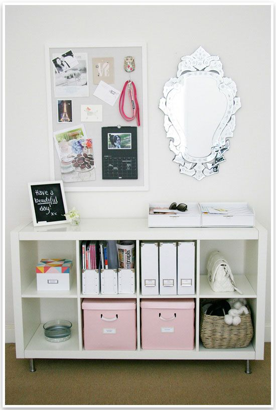 Wonderful tips and inspiration for an organized entry!
