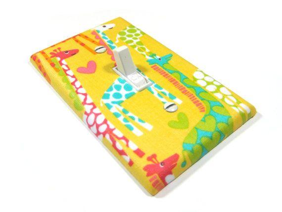 Yellow Love Giraffe Nursery Decor Light Switch by ModernSwitch, $10.00