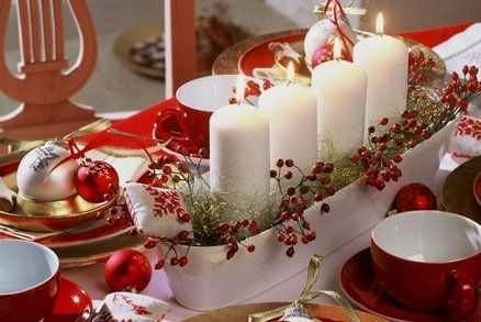 Advent wreaths or christmas center pieces