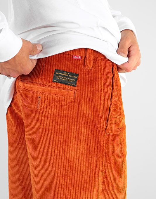 00c7dc88a6 Levi s Skateboarding Pleated Corduroy Trousers - S E Bombay Brown ...