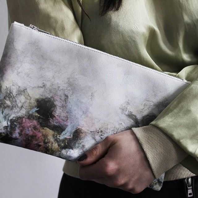 Introducing Element Fusion Limited99:The unification of forces. Connections of differences dormant in each of us, presented as the form of color trying to find a common denominator. Oryginal #printed small #clutch bag. A limited edition of small and large bags with 99 pieces each!#Redream #limited #ElementFusion