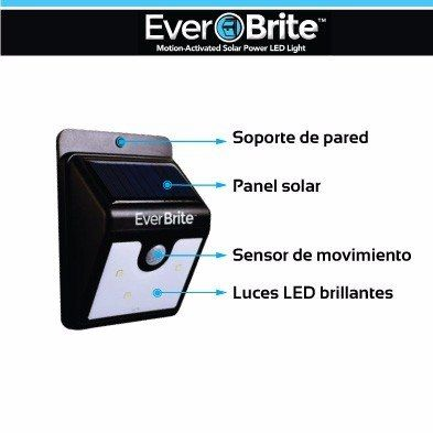 Ever Brite es la novedosa lámpara que se carga con energía solar y enciende automáticamente en la noche. Su luz LED es intensa y dura hasta 12 horas. ¡Cómprela ahora! (+57) 3176404688
