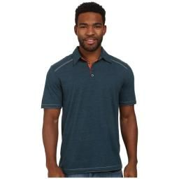 Garrick Polo, Majolica Blue, L : This super soft polo is great for all-day wear and features a fold collar and contrasting stitching for extra style!