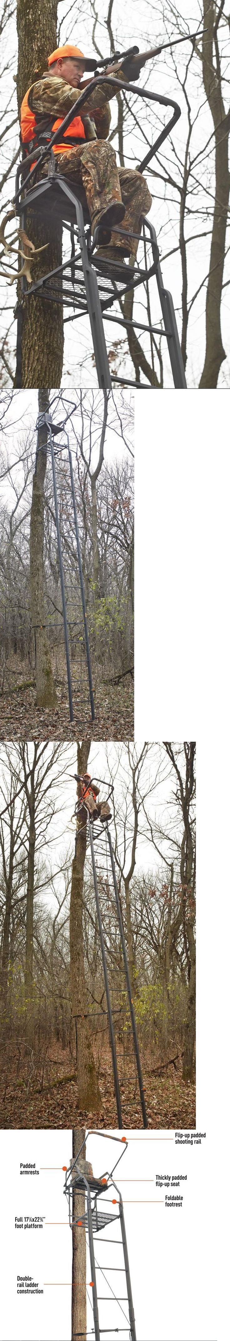 Tree Stands 52508: 21 Ladder Tree Stand Hunting Huge Xl Rifle Bow Deer Archery Camo Hunting Foot -> BUY IT NOW ONLY: $187.56 on eBay!