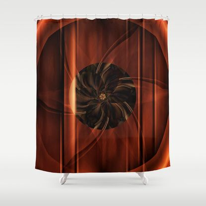 abstract Flower Collage Shower Curtain