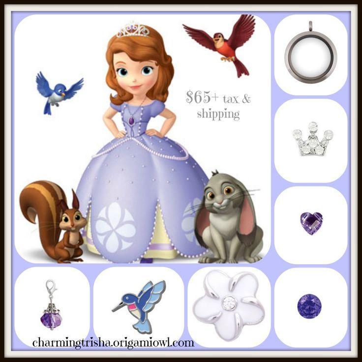 Disney's Sofia the First Origami Owl Sharalyn Saliger #8030 www.3hootsandahol…