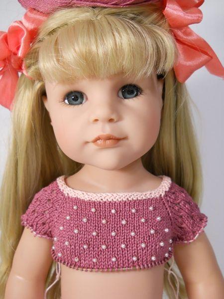 вяжем спицами для куклы готц схемы и описание вязания одежда для