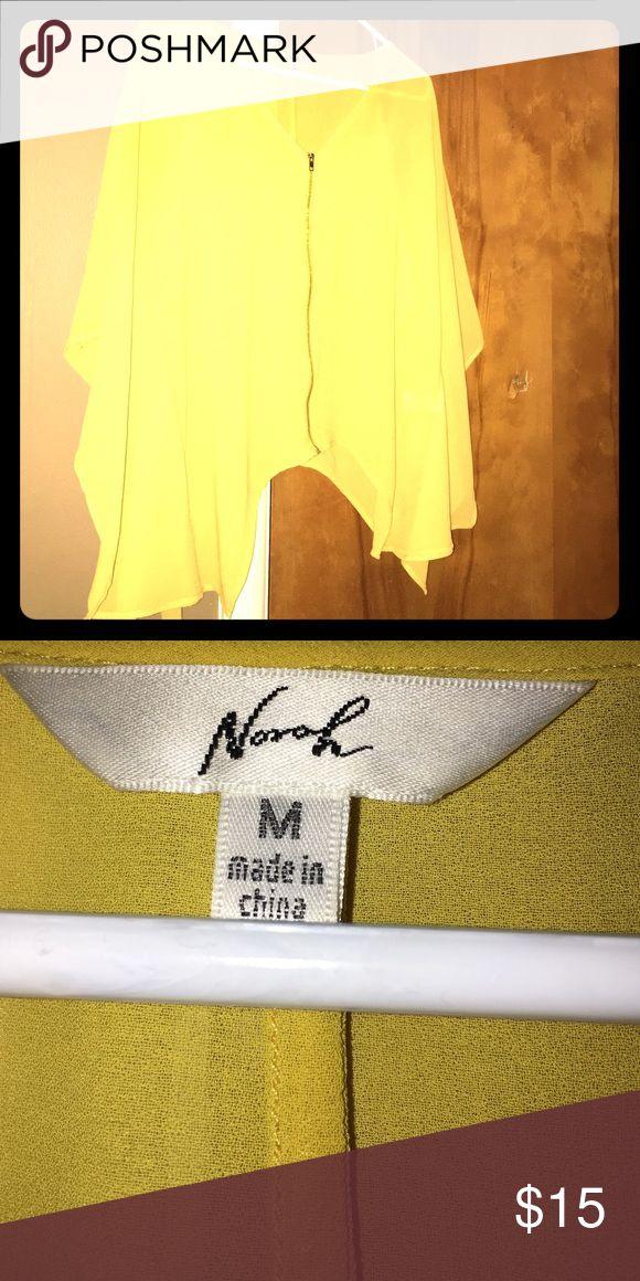 Zip up tunic Medium yellow zip up tunic Tops Blouses