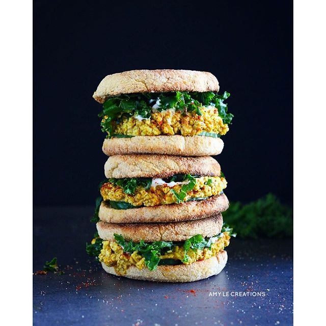 "Curried ""egg"" sandwiches"