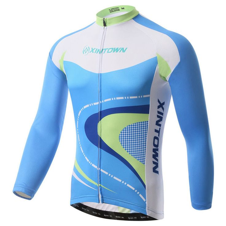 Xintown Bike Team Mens Cycling Jersey Long Sleeve Bicycle Cycling Clothing Warm mtb Bike Jersey Wear ropa invierno ciclismo #Affiliate