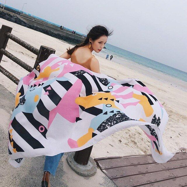 90180cm beach scarf women cover summer 20 styles scarf oversized scarves women pareo wrap sarong long cape sarongs