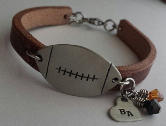 JBK Football or Baseball mom bracelet by jewelrybykaren2 on Etsy, $32.00