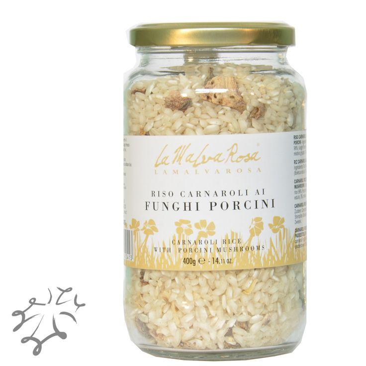 """La migliore qualità di riso per cucinare un risotto perfetto è il """"Carnaroli"""", che La Malvarosa ha scelto di arricchire con funghi porcini. http://occitania.land/produttori/la-malva-rosa/riso-carnaroli-funghi-porcini-vendita-online-prodotti-alimentari-la-malva-rosa.html"""