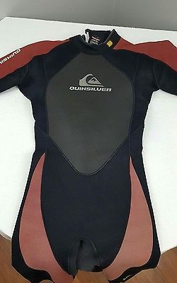 Men's Quicksilver Syncro 2/2 mm Back Zip Wetsuit L 52 Short