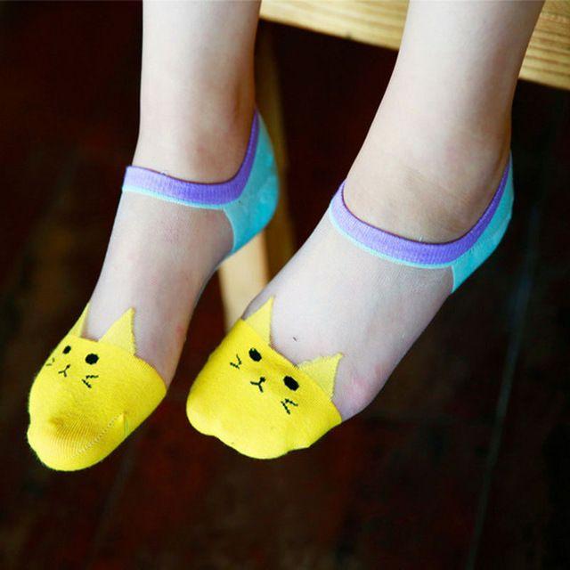5 Пара Носок Тапочки Лодка Носки Домашние Тапочки Для Женщин Тапочки Милые Носки Для Женщин Мультфильм Тонкий Дышащий Летом
