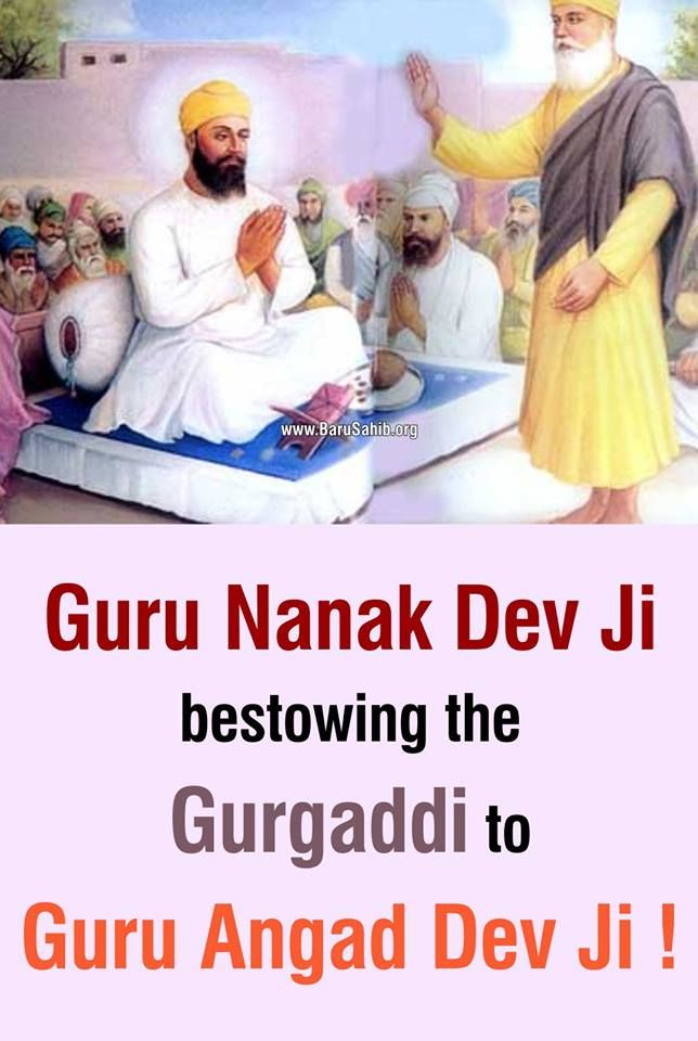 #DidYouKnow Guru Nanak Dev Ji bestowing the Gurgaddi to Guru Angad Dev Ji ! Guru Nanak Dev Ji bestowed the Gurgaddi to Guru Angad Dev Ji after putting 5 paise and a coconut in front of him Share & Spread!