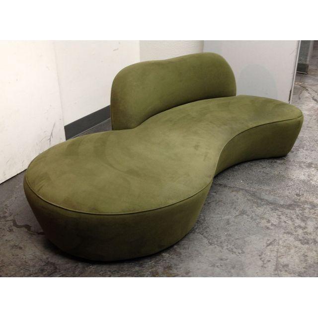 Image of Room & Board Serpentine Suede Sofa
