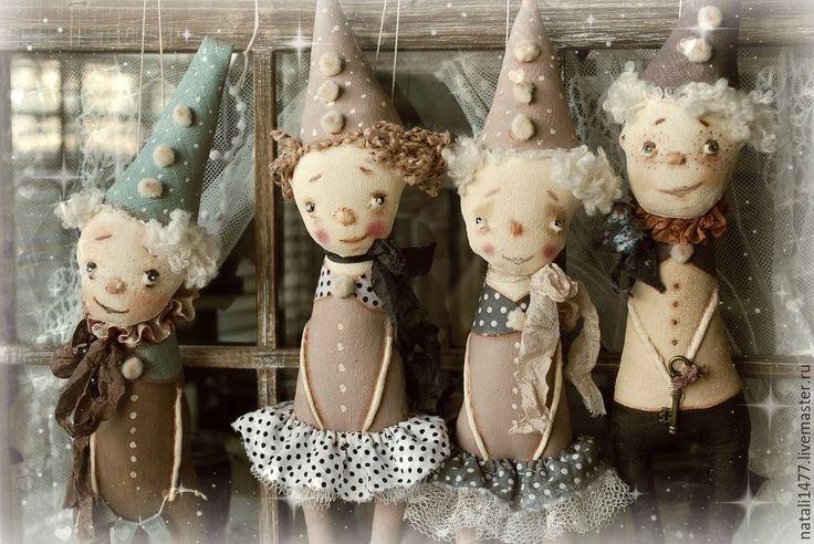 Купить Где водятся Волшебники )))))) - разноцветный, текстильная кукла, волшебник, волшебница, примитивная кукла