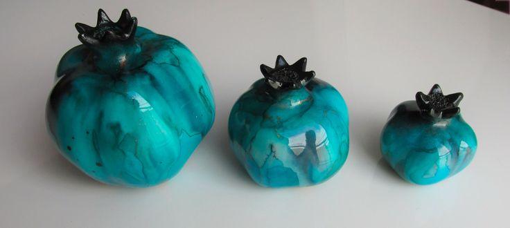 #Multi-Color #Handmade #Ceramic #Decorative #Pomegranates #onebay