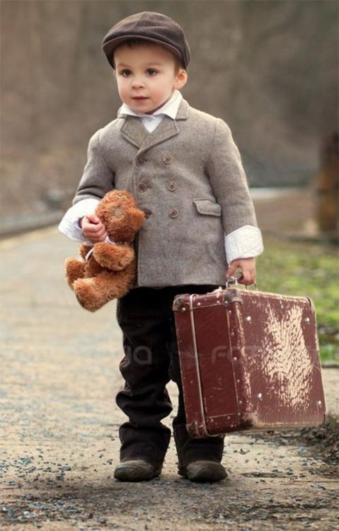 packed and ready to travel with teddy