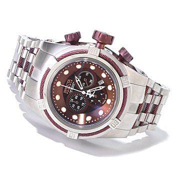 607-459 - Invicta Reserve Men's Bolt Zeus Swiss Chronograph Mother-of-Pearl Bracelet Watch