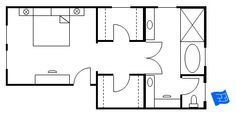 master walk through closet to bathroom floor plan - Google Search