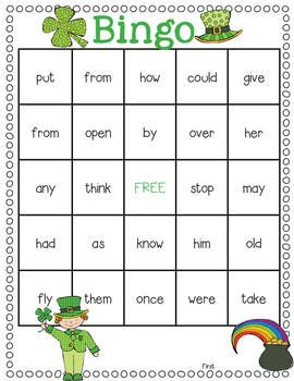 Leprechaun Sight Word Games Featuring the Dolch Words.  4 fun games for practicing sight words!  Includes Leprechaun Bang!, St. Patty's Concentration, Go Find the Pot of Gold! (like Go Fish), and Luck O' the Irish Sight Word Bingo.  $