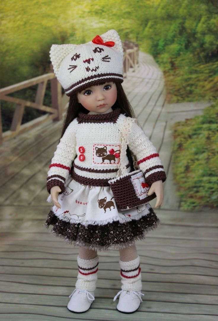 """The dress for a doll Little Darlings Effner 13 """"Diana Effner doll clothes, dress"""