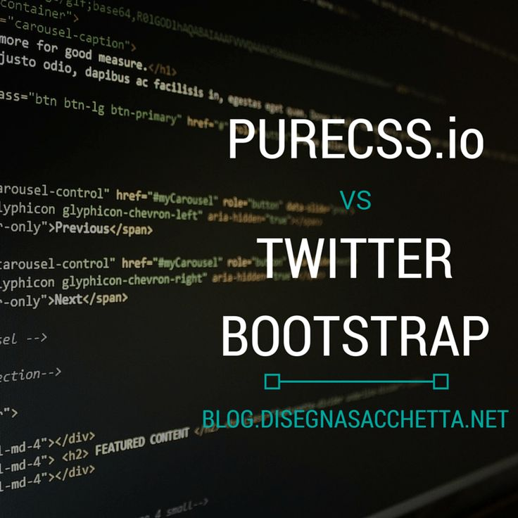 Pure CSS Vs Twitter Bootstrap