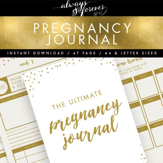 Printable Pregnancy Journal INSTANT DOWNLOAD // Pink & Gold // Baby Planner, Pregnancy Planner, DIY Planner, Printable To Do List