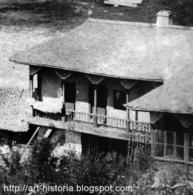 Casa de secol al 18-lea aflata pe coltul gradinii palatului Sutu
