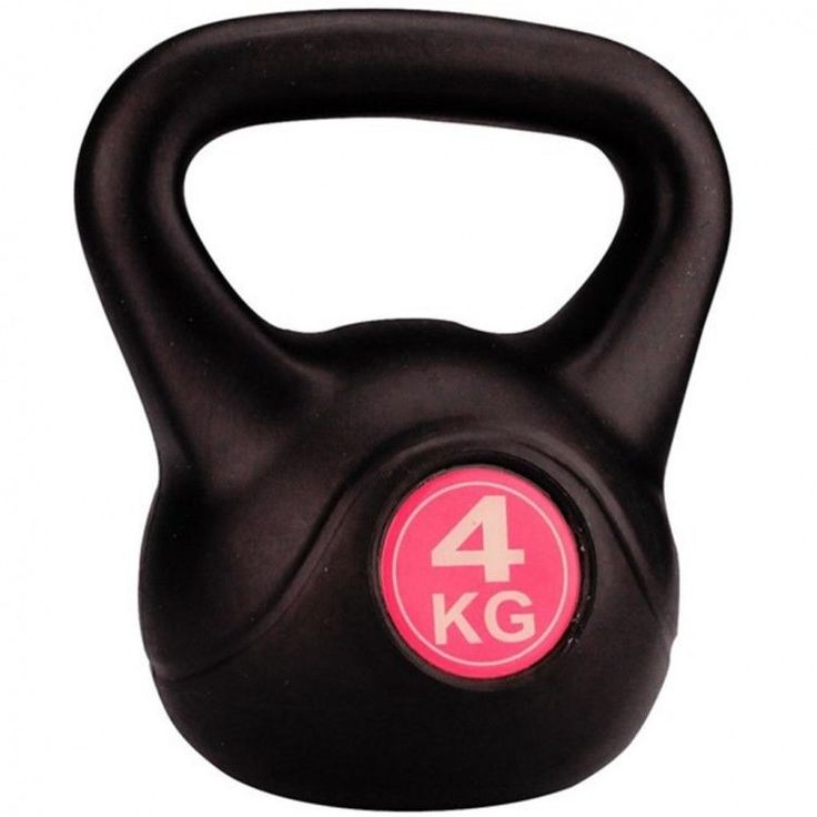Workout Training Kettlebell Fitness Gym Home Indoors 4 Kg Weight Lifting Black  #WorkoutTrainingKettlebell
