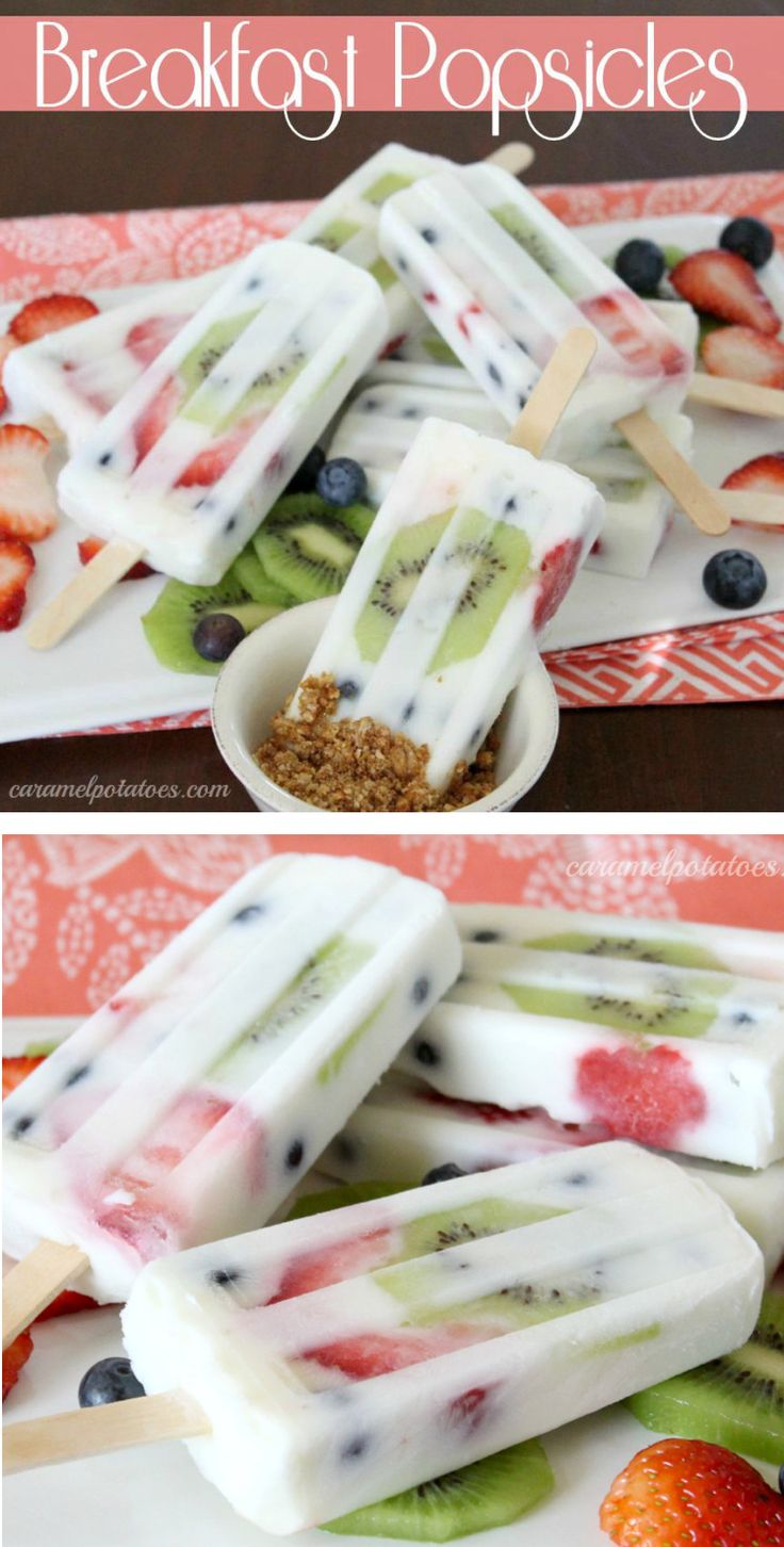 Popsicles for breakfast! Yes please