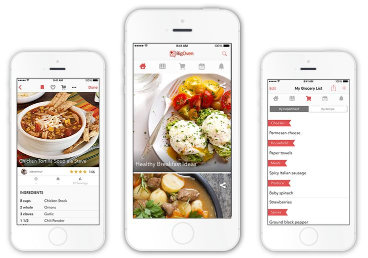 BigOven's free recipe apps are available for iPhone, Android, iPad, NOOK, Windows Phone, Windows, and Kindle Fire.