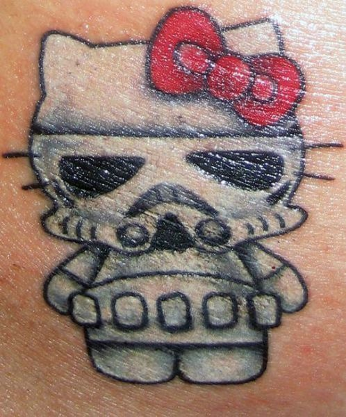 trooper kitteh xDTattoo Ideas, Storms Troopers, Hello Kitty Tattoo, Stormtroopers Tattoo, Stars Wars, A Tattoo, Tattoo Design, Tattoo Ink, Inspiration Tattoo