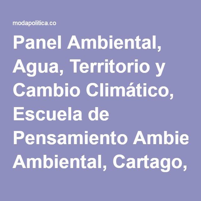 Panel Ambiental, Agua, Territorio y Cambio Climático, Escuela de Pensamiento Ambiental, Cartago, Cosmovisión Jorge Moncada Angel