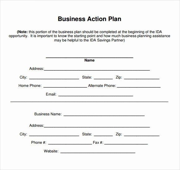 Free Printable Business Plan Template New Sample Business Action Plan 13 Examples I Business Plan Template Pdf Business Plan Template Treatment Plan Template