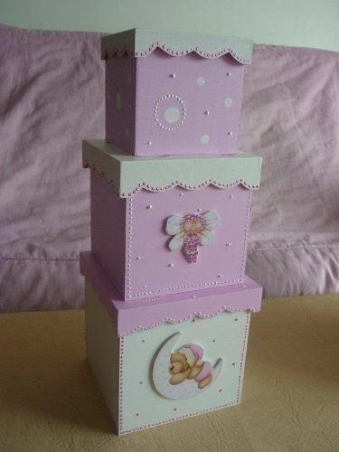 Cajas de madera decoradas cajitas de fibrofacil pinterest - Cajas de madera decoradas ...
