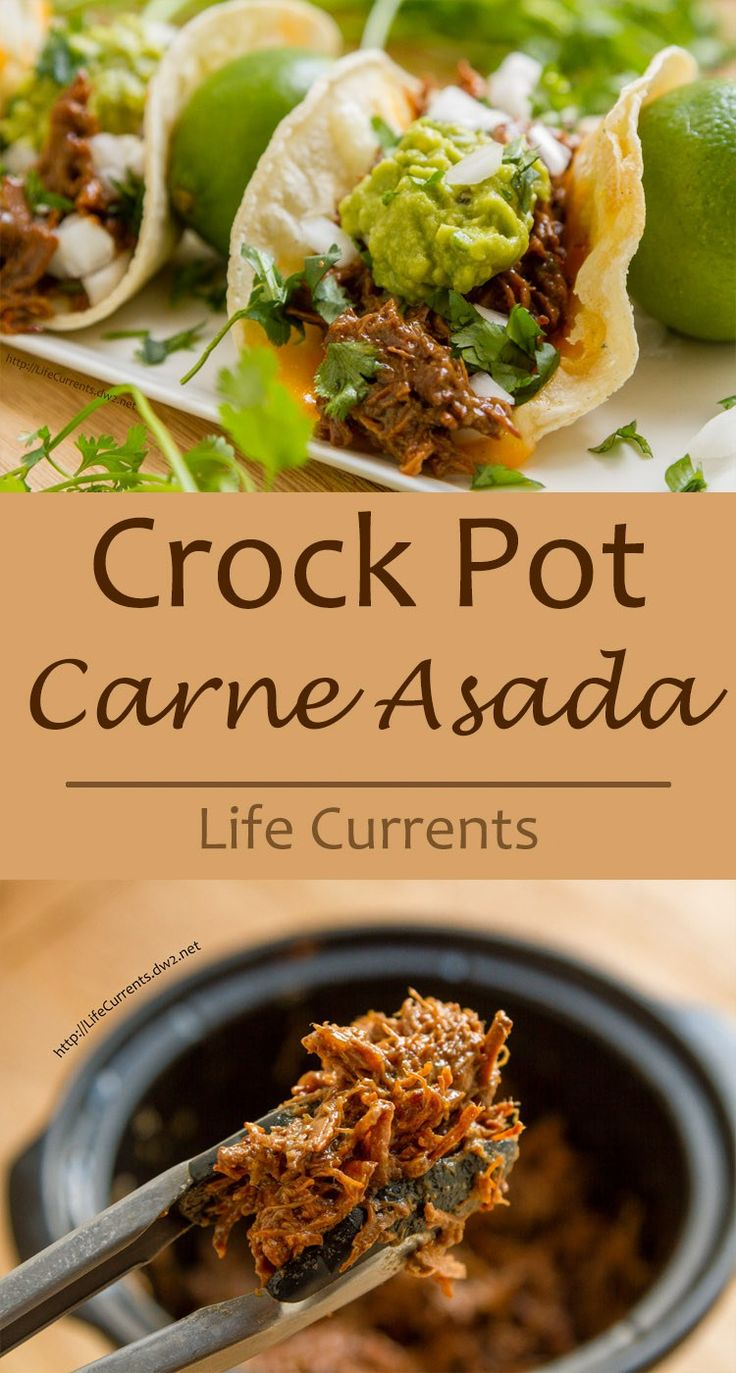 This Crock Pot or Slow Cooker Carne Asada is super easy to make and was a HUGE hit in my house. Delicious and so easy!