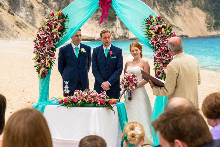 Feeling the Words of the celebrant #beachwedding #weddingingreece #mythoswedding #kefalonia