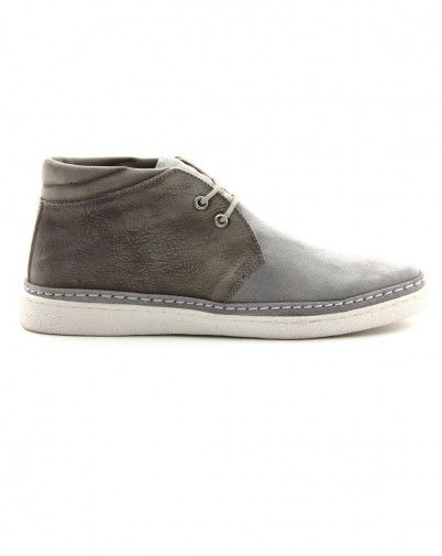 Be Positive Grey Chukka Wash Sneakers
