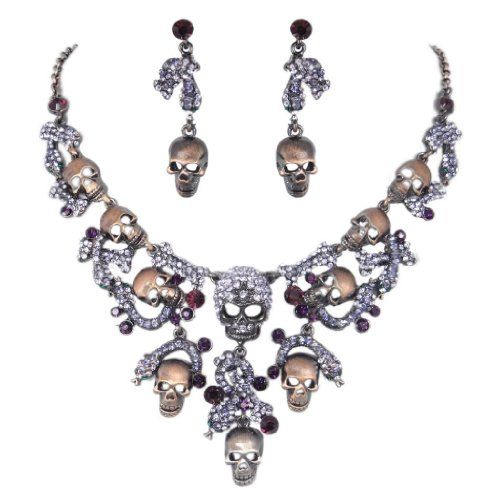 Halloween Vintage Style Skull Snake Necklace Earrings Set Austrian Crystal Purple A13909-11 Ever Faith,http://www.amazon.com/dp/B00EF19YJS/ref=cm_sw_r_pi_dp_E5GCtb1J8J3EK1KX